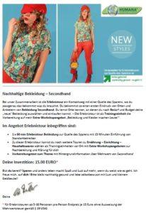 Erlebnistour Nachhaltige Bekleidung - Secondhand