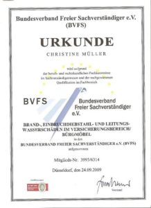 Christine Müller. Sachverständigenbüro für Möbel